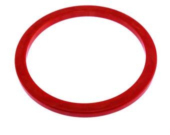 Bracelet jonc de bakélite rouge, rouge de fin de journée en bakélite Bracelet jonc, Bracelet jonc en bakélite marbré rouge