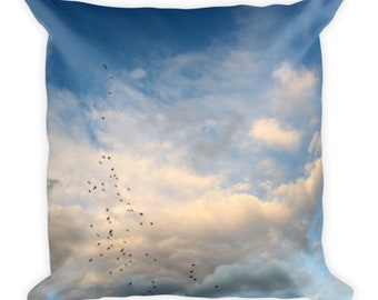 Head on the Clouds B - cloud pillow - Home Decor Pillow Covers - 2 sizes available