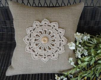Burlap Pillow Decorative Pillow Cover Rustic Pillow Housewares Pillows Home Decor Pillow Cases Decorative Throw Pillow Covers