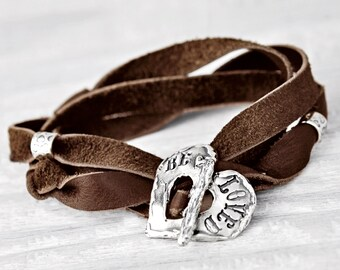 Beloved Bracelet- Inspirational Jewelry- Toggle Wrap Bracelet- B469