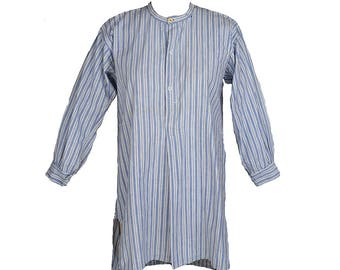 Vintage Edwardian Shirt // Blue Stripe // S