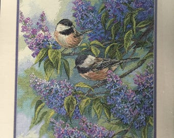 Dimensions Gold Collection ***Chickadees and Lilacs***   Kit  #35258   NIP