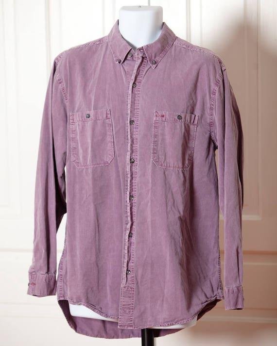 Territory Ahead Men Cotton Shirt Brick Pinkish Paisley Size M H54chrt