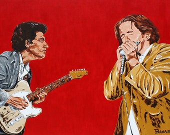Paul Butterfield & Michael Bloomfield • Butter Bloom • Print