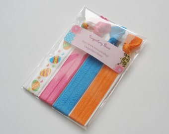 Elastic Hair Tie Set of Four - Easter Egg Mix (5071)