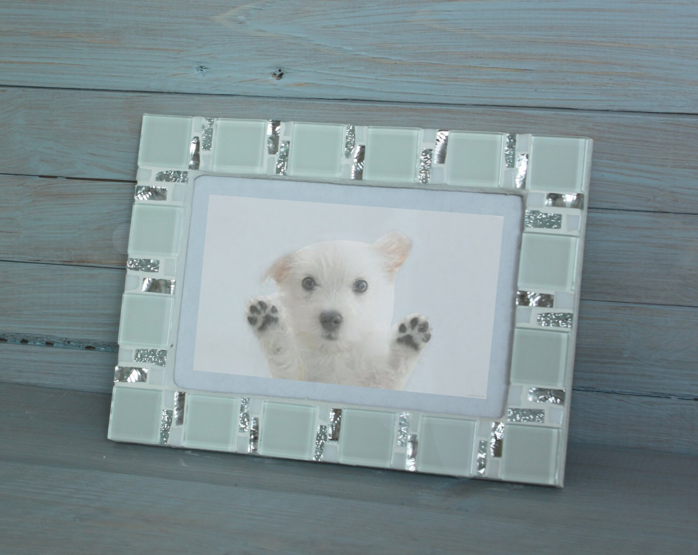 4x6 frame - Mosaic photo frame - White frame - Photo frame 4x6 ...