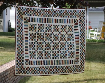 Postage Stamp Quilt, Traditional Quilt, Quilt