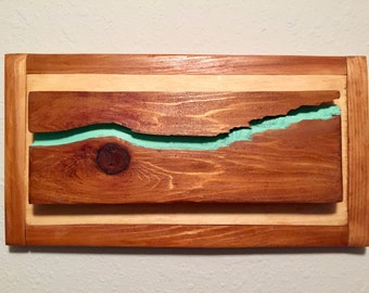 A River Runs Thru It- Reclaimed Wood Art