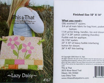 "This & That Quilt Pattern ~ ""Lazy Daisy"" #167"