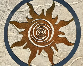 Stainless Steel Sun Wall Hanging