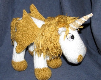 Toy Unicorn – KNITTING PATTERN - pdf file by automatic download