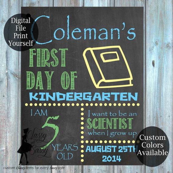 First Day Of School Chalkboard Sign 159