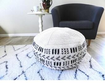 crochet pouf pattern, crochet floor pouf, crochet ottoman,  huge crochet pattern, crochet home decor patterns, chunky crochet patterns,