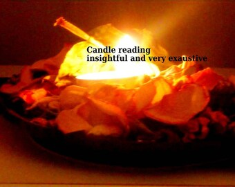 Candle Reading, Ceromancy, Spiritual Reading, Psychic within 24 Hours, Mediumship, pdf file Reading, Candle Flame Reading.