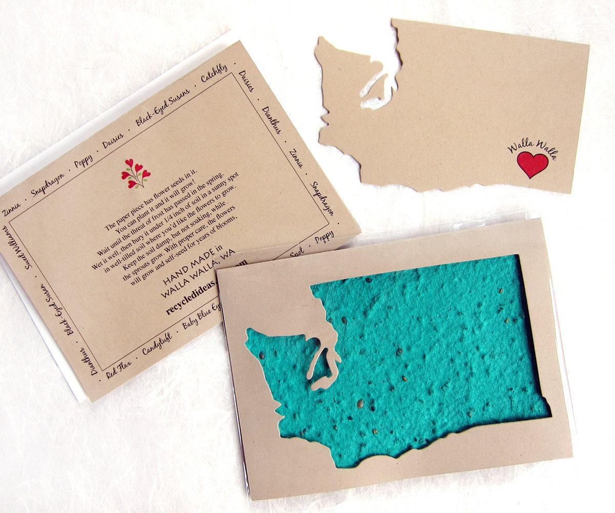 Washington state gift card with flower seeds made in walla zoom m4hsunfo