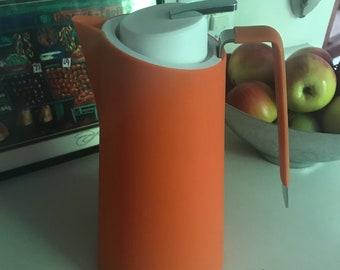 Never used mid century modern orange coffee carafe