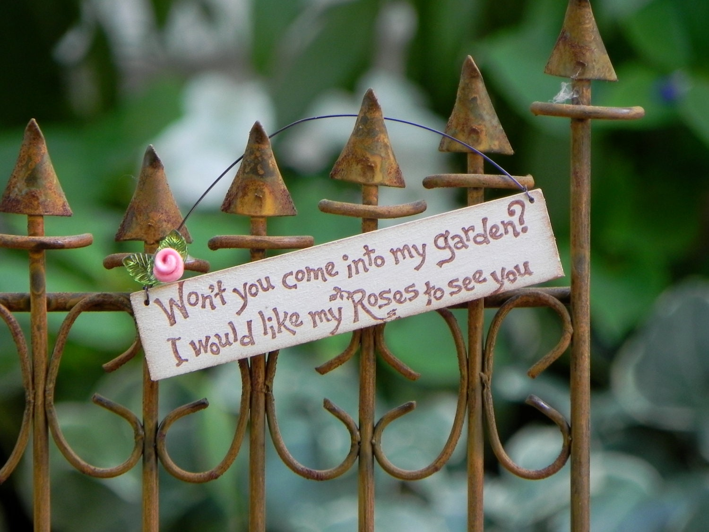 Fairy Garden Sign miniature accessories mini wooden