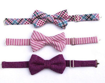 Boys Boysenberry Bow Tie Boys Wedding Bow Tie Boys Plum Bow Tie Raspberry Bow Tie Toddler Bowtie, Ring Bearer Outfit, Mens Raspberry Bow Tie
