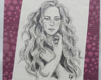 Lydia - Portrait in Pencil - Original Art