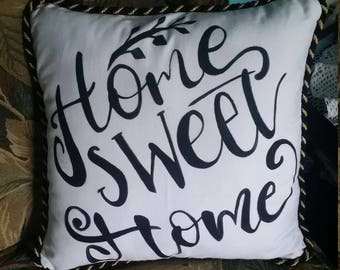 Hand Painted canvas throw pillow cases 18x18inches