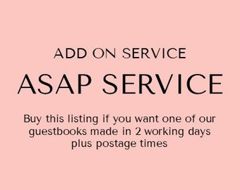 ASAP Service - For Guestbooks | Add On Service for Guestbooks | Weddings | Birthdays | Celebrations | Australian Seller
