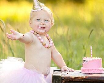 Cake Smash Outfit Girl Tutu, First Birthday Outfit Girl Tutu, 1st Birthday Outfit Tutu Skirt, Newborn Tutu, Tulle Skirt, SEWN Tutu Gift