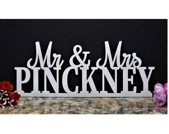 Mr and Mrs sign. Wedding Name Sign. Custom Mr & Mrs Sign. Custom Wedding Sign. Custom Wood Name Sign Custom Wood Last name sign Surname sign