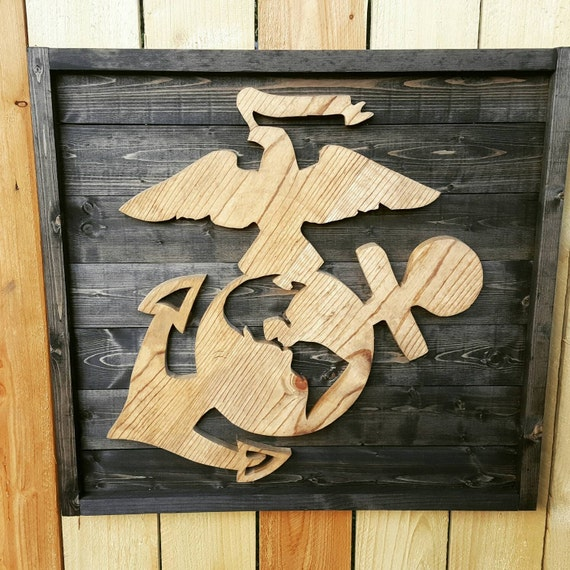 Marine Corps wall hanging. USMC. Eagle Globe Anchor wall