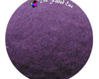 Needle Felting Maori Wool Batt / FB52 Deep Purple Maori Wool Fluffy Batt