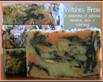 Witches Brew - Rustic Suds Natural - Organic Goat Milk Triple Butter Soap Bar - 5-6oz. Each