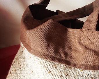 Hand made wool and cloth bag