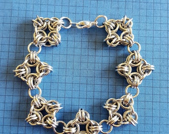 Square Weave Chainmaille Bracelet