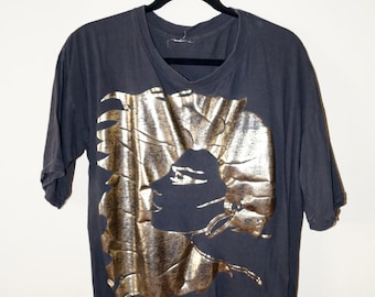 Metallic Vintage Golden Design Shirt