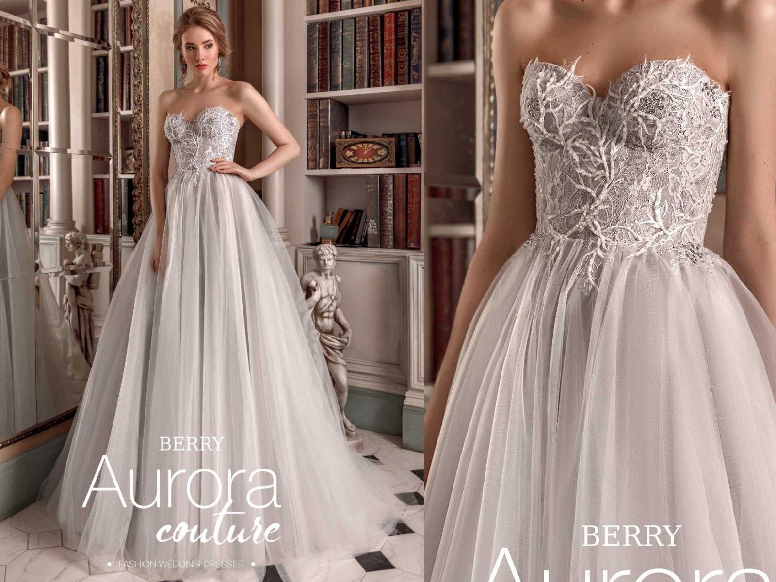 Hochzeitskleid BERRY Farbe Hochzeitskleid Heidelbeere