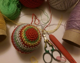 christmas baubles crochet pattern