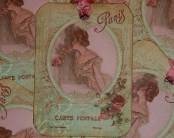 Carte Postale Paris Gift Tags