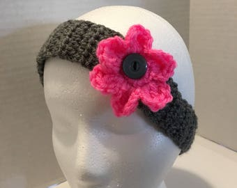 Headband with interchangeable flower