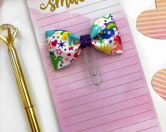 Unicorn  Paper Clip / Unicorn Planner Clip / Planner Bow Clip