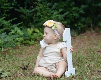 """First Birthday Photo Prop - 15"""" Wooden Number One - 1st Birthday - Wooden Number Prop • White Photo P"""
