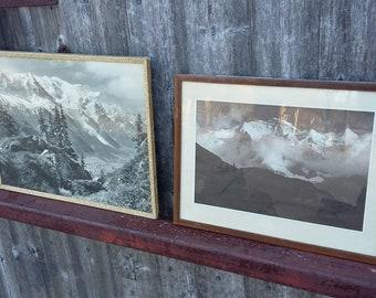 Pair of Vintage Alpine Framed Photographs