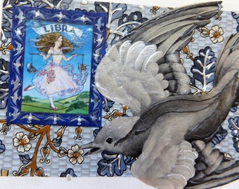 Fine Art Greeting Card: OOAK Zodiac Montage 'Libra'