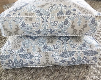 Dog Bed with insert - 'FENWAY' design, floral pet bed, washable dog bed, dog bed pillow, small medium large pet bed,