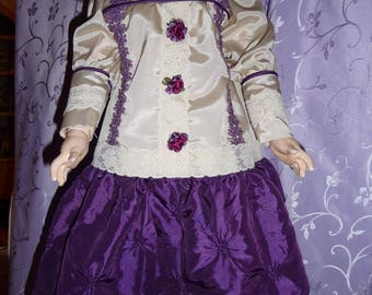 Sunday afternoon dress of taffeta and lace for 25+ in dolls