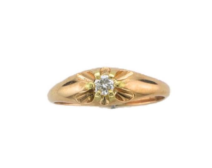 Diamond Belcher Ring; Diamond Wedding Ring; Diamond Promise Ring; Diamond Engagement Ring