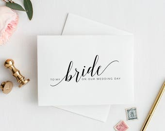 To My Bride Card, To My Bride On Our Wedding Day Card, Bride Card, Card For Bride, To My Wife On Our Wedding Day Card, Printable Card