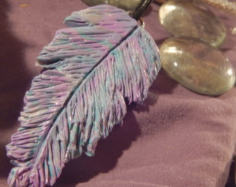 Teal and Purple Feather