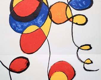 """Original Lithograph """"Spirals"""" by Alexander Calder 1970"""