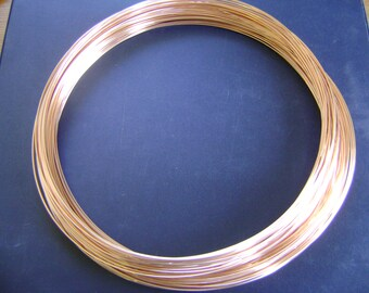 FREE SHIPPING 10Ft 24G 14K Rose Gold Filled Round Wire DS(1.85/Ft Includes Shipping)