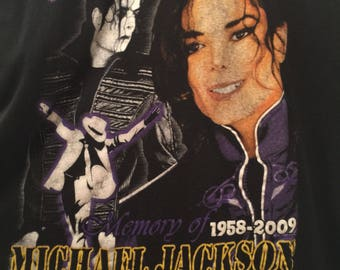 KING OF POP memory of Michael Jackson 1958-2009 graphic shirt