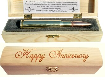 Anniversary gifts for men etsy anniversary gifts for men boyfriend or husband bullet pen engraved gift box negle Choice Image